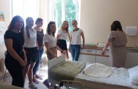 Ratowniczki z ZSP nr2  na Wydziale Medyczno – Społecznym  WSPS w Jarocinie